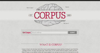 Corpus Website Screenshot