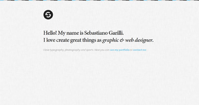 Sebastiano Garilli Website Screenshot