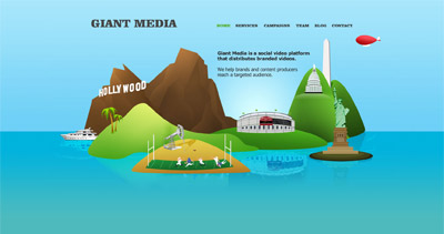 Giant Media Website Screenshot