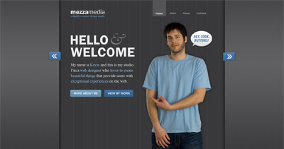 mezzamedia Website Screenshot