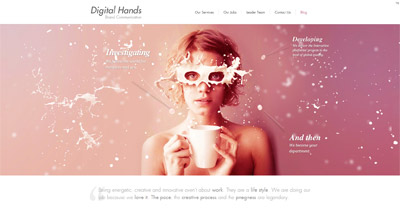 Digital Hands Website Screenshot
