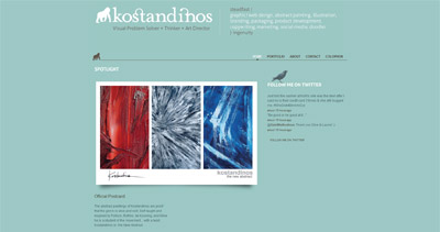 Kostandinos Website Screenshot
