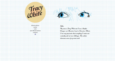 Tracy White Website Screenshot