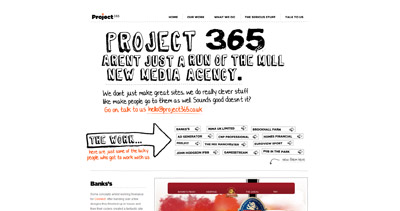 Project365 Website Screenshot
