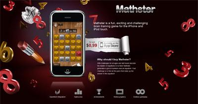 Mathster Website Screenshot