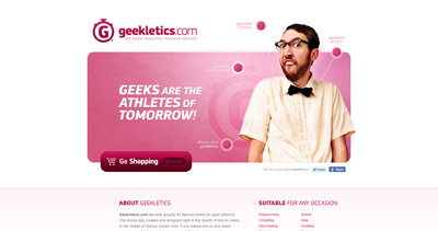 Geekletics Website Screenshot