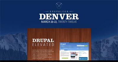 DrupalCon Denver 2012 Website Screenshot
