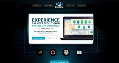 Icora Website Screenshot