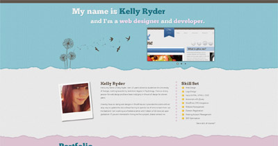 Kelly Ryder Website Screenshot