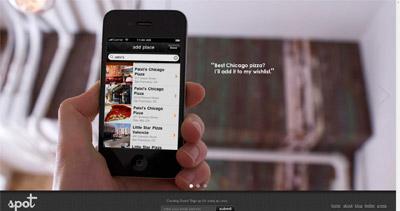 Spot App Website Screenshot