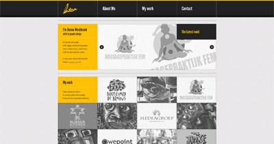 Anton Westbroek Website Screenshot