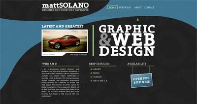 mattSOLANO Website Screenshot