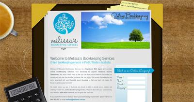 Melissa's Bookkeeping Services Website Screenshot