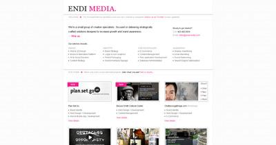 Endi Media Website Screenshot