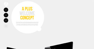 A Plus Concept Website Screenshot