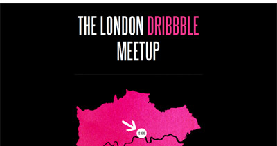 The London Dribbble Meetup Website Screenshot