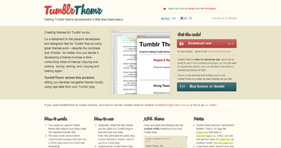 TumblrThemr Website Screenshot