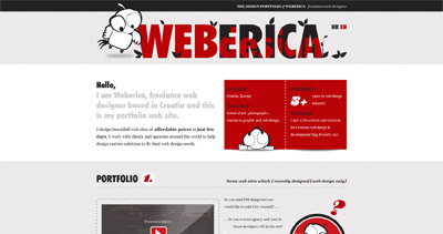Weberica Website Screenshot