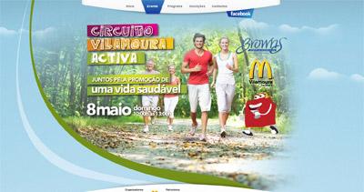 Circuito Vilamoura Activa Website Screenshot