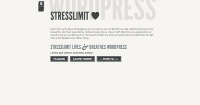 Stresslimit loves WordPress Website Screenshot