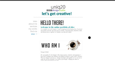 Uniq20 Website Screenshot