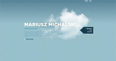 Mariusz Michalski Website Screenshot