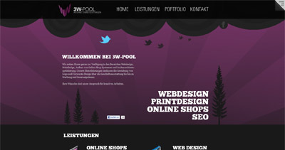 3w-pool Website Screenshot