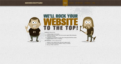 SEO Rockstars Website Screenshot