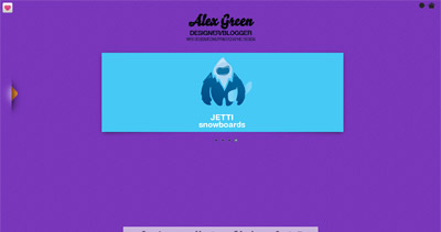 Alex Green Website Screenshot