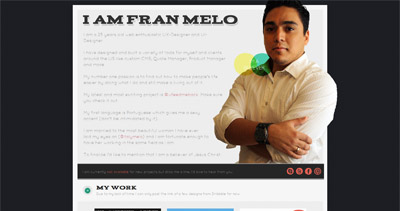Fran Melo Website Screenshot