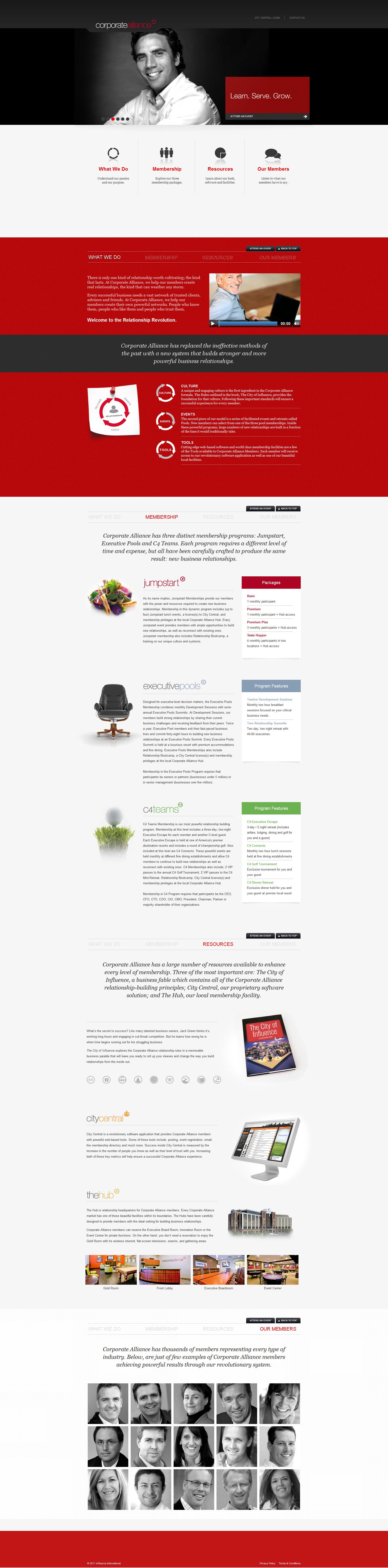 Corporate Alliance Website Screenshot