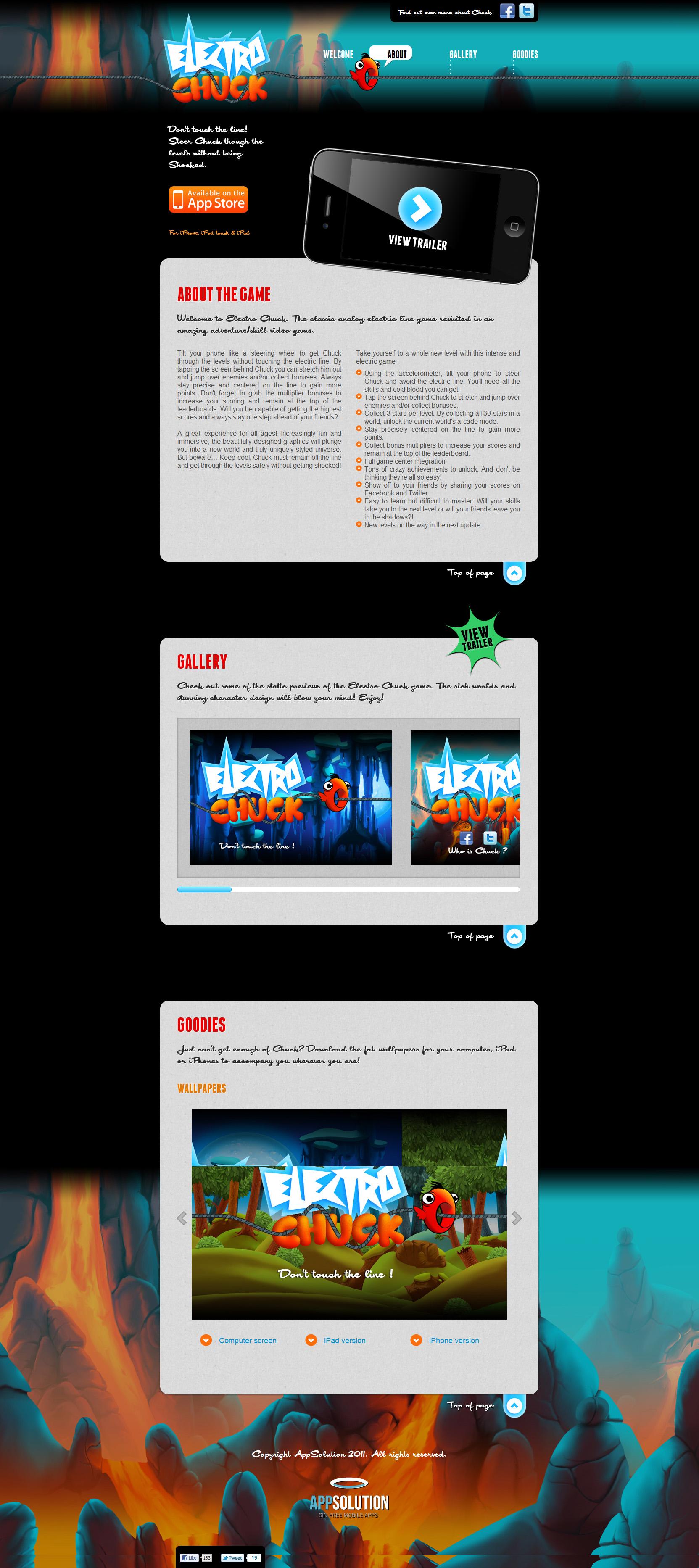 Electro Chuck Website Screenshot