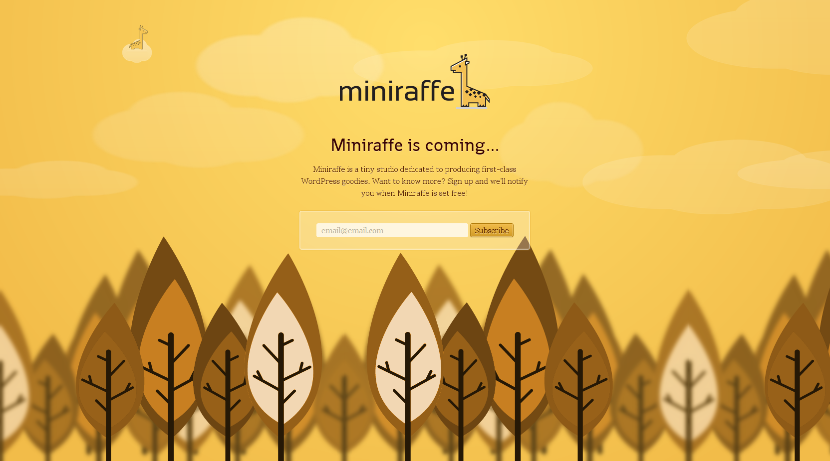 Miniraffe Website Screenshot