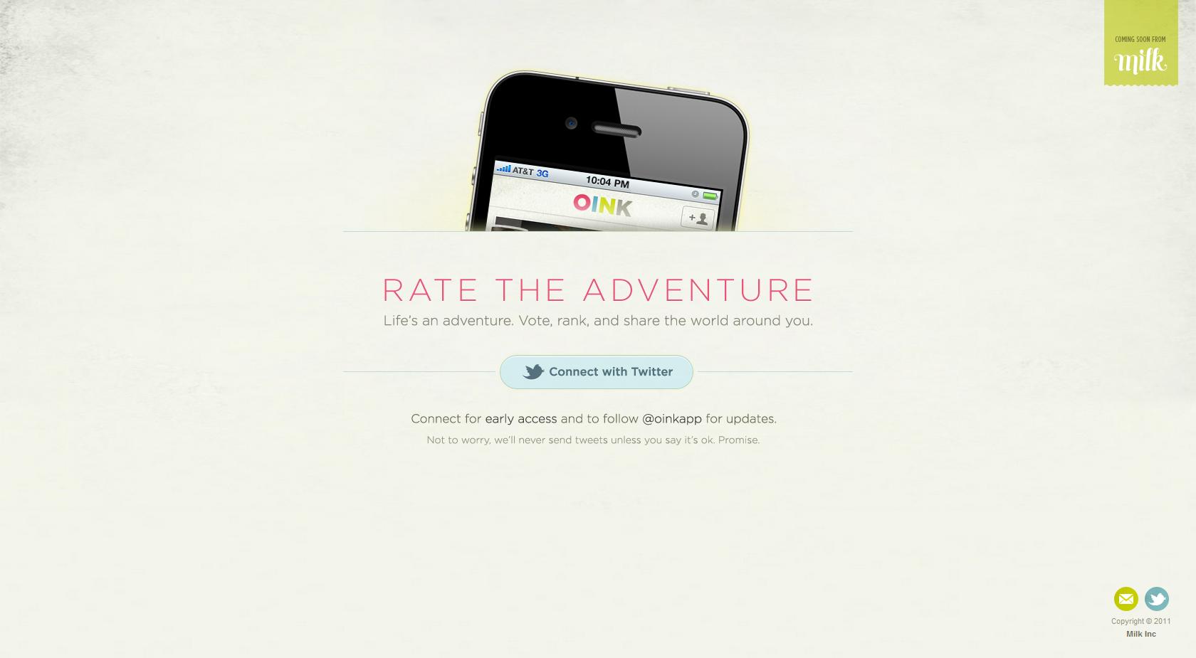 Oink Website Screenshot