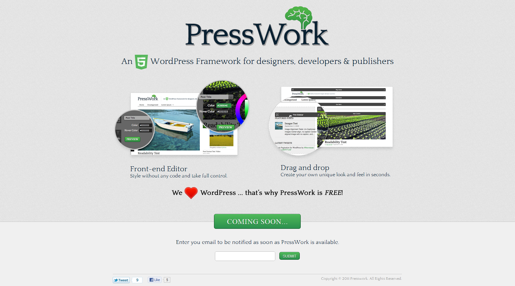 PressWork Website Screenshot