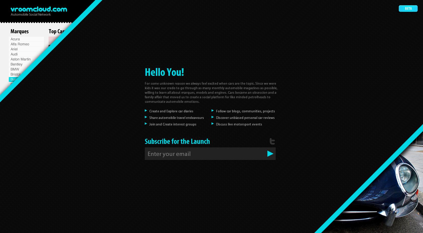 Vroomcloud Website Screenshot