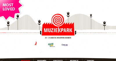 Muziekpark 2011 Website Screenshot