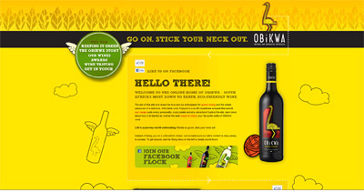 OBiKWA Wines Website Screenshot