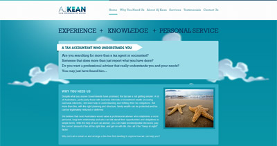 AJ Kean Website Screenshot