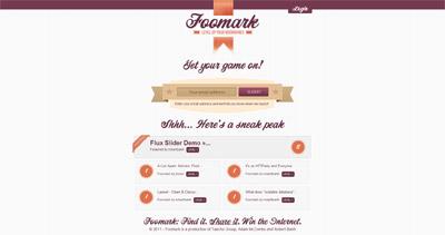 Foomark Website Screenshot
