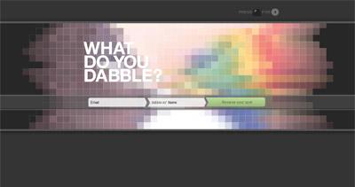 What do you Dabble? Website Screenshot