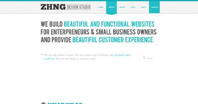 zhng design studio Website Screenshot