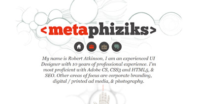 Metaphiziks Website Screenshot
