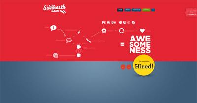 Siddharth Arun Website Screenshot