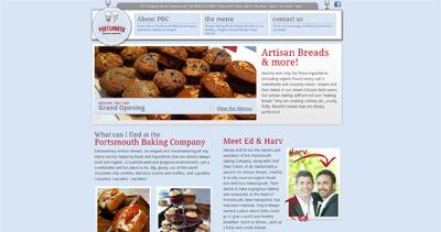 Portsmouth Baking Company Website Screenshot