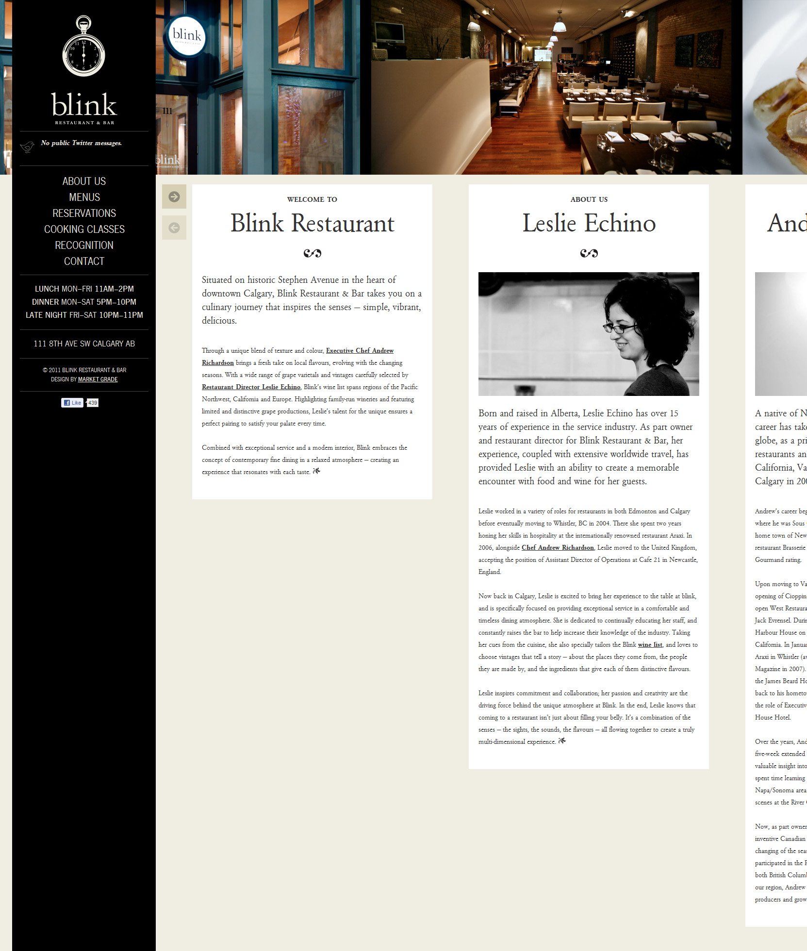 Blink Restaurant Website Screenshot