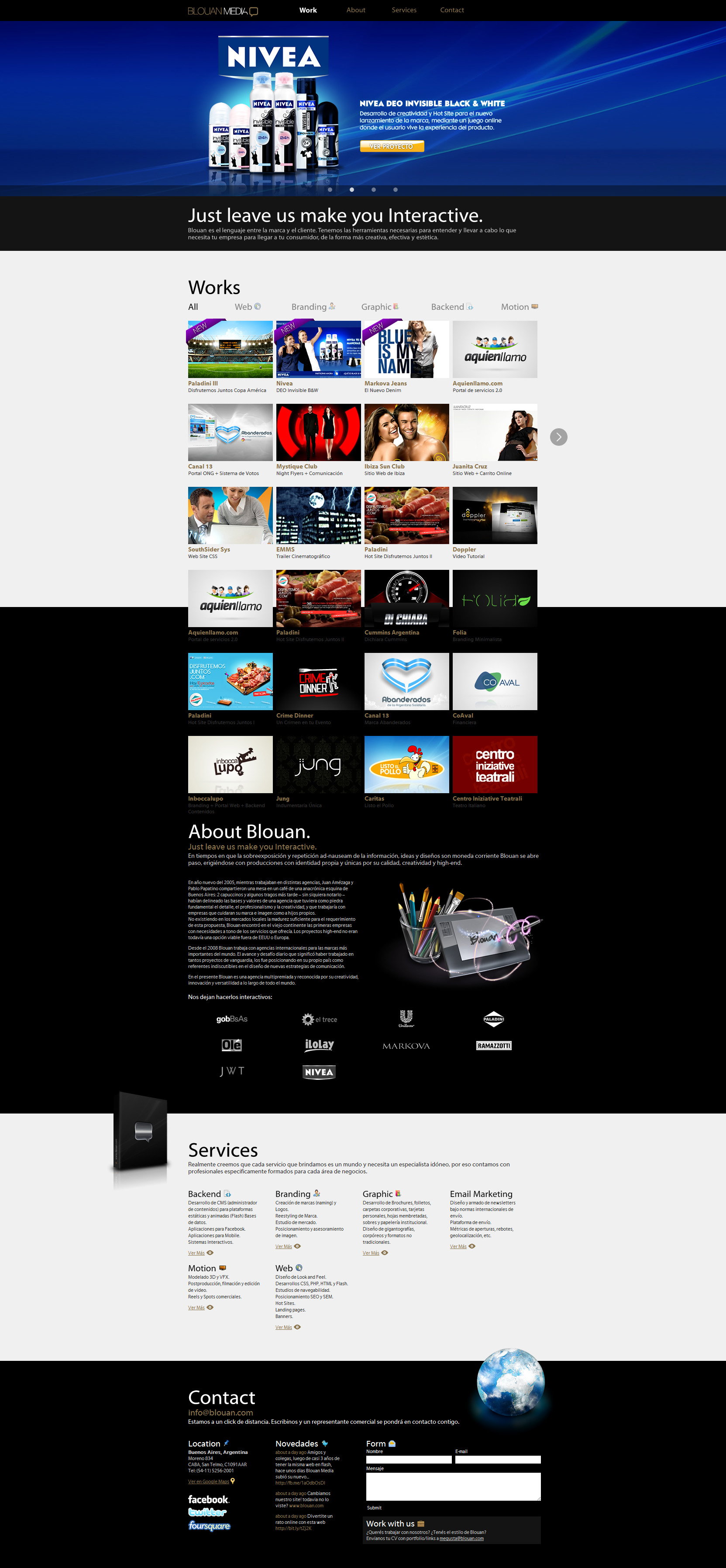 Blouan Agencia Website Screenshot