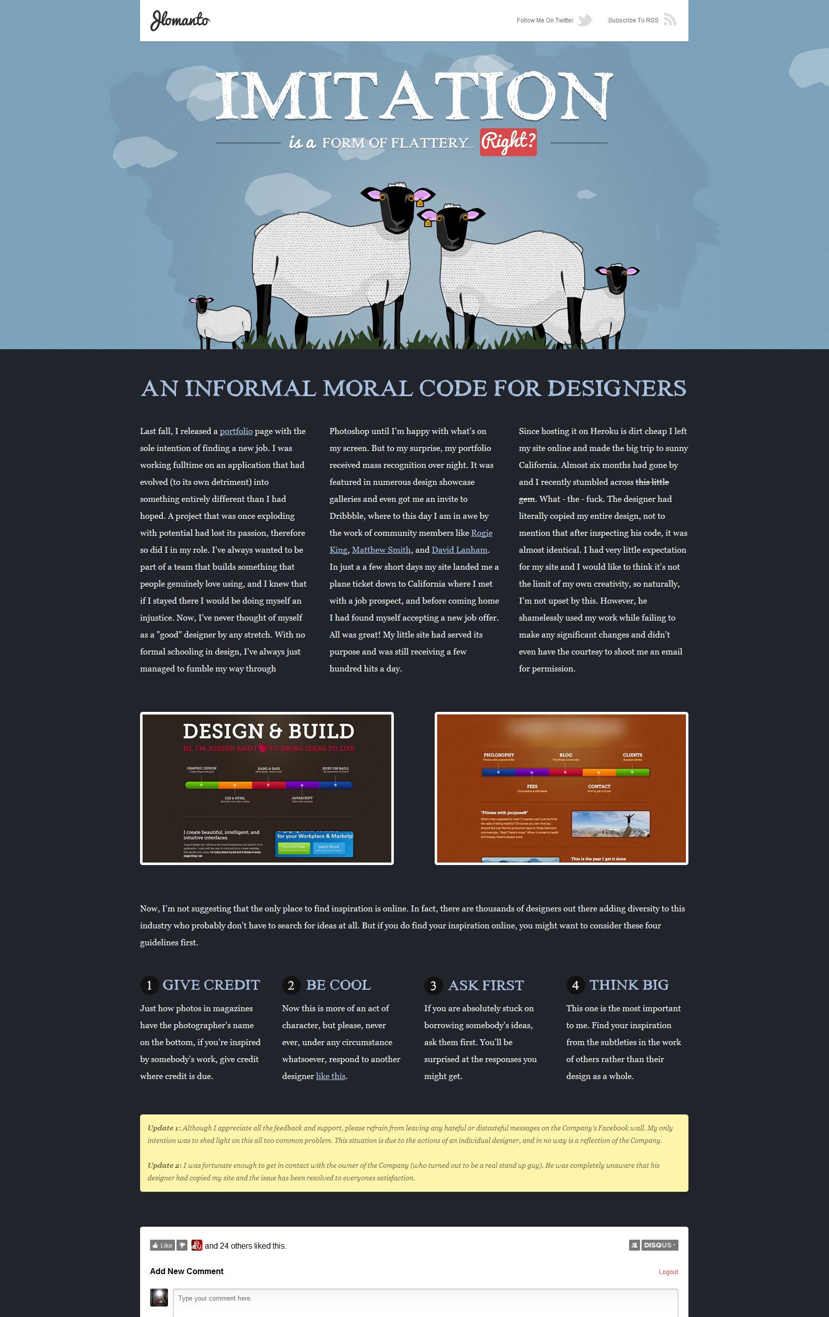 Imitation In Web Design Website Screenshot
