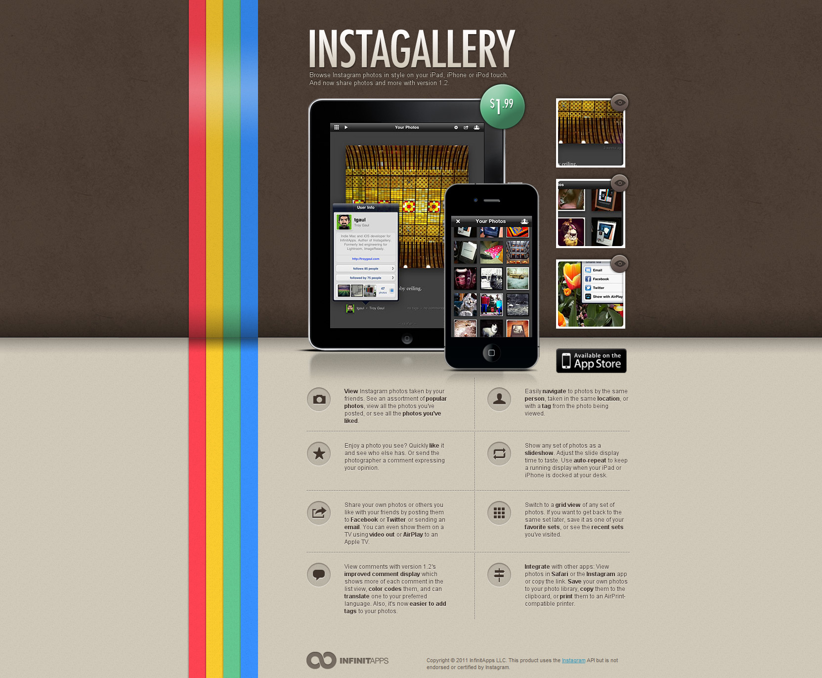 Instagallery Website Screenshot