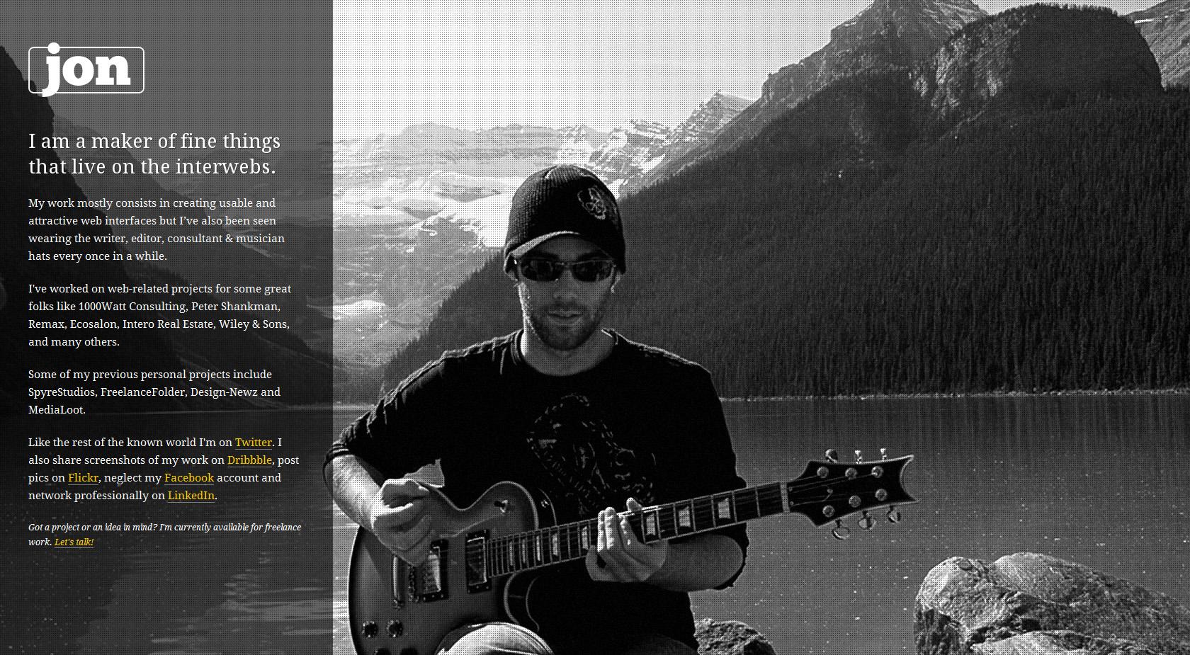 Jon Phillips Website Screenshot
